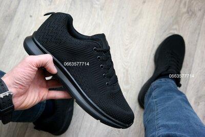 Черные мужские кроссовки , чорні чоловічі кросівки легкие и удобные . Отличная обувь