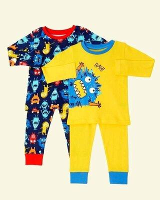 Набор из 2 шт ярких пижамок от dunnes stores из англии на 2-3 года