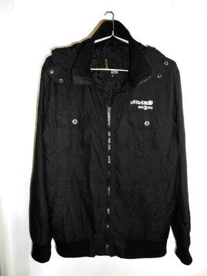 Черная куртка ветровка с капюшоном Jack&Jones