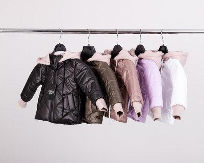 Детская Деми куртка, трикотажный капюшон р.86-104, 110-134