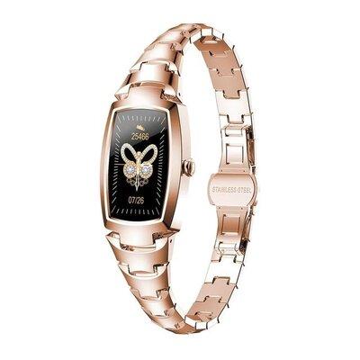 Lemfo H8 Pro женский смарт браслет с тонометром и пульсометром с Bluetooth. Гарантия 12 месяцев