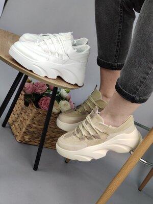 Женские кожаные кроссовки, цвета