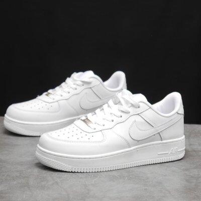 Кроссовки мужские Nike Air Force, белые, кожа