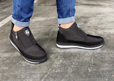 Ботинки демисезонные женские черный цвет Е-10Чрн