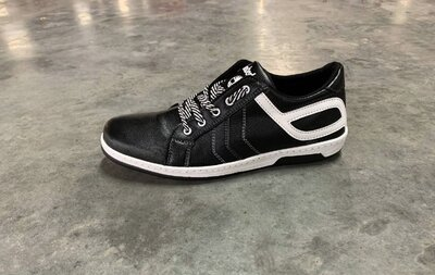 Мужские туфли кроссовки черные спортивные Ск-5-1