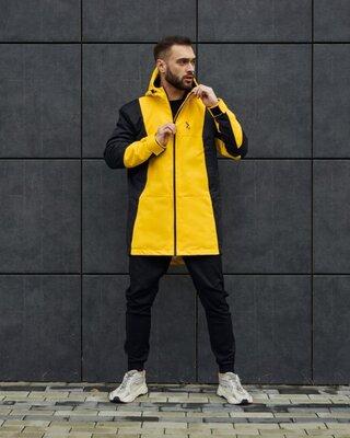 Куртка демисезонная мужская Пушка Огонь Horn черно-желтая