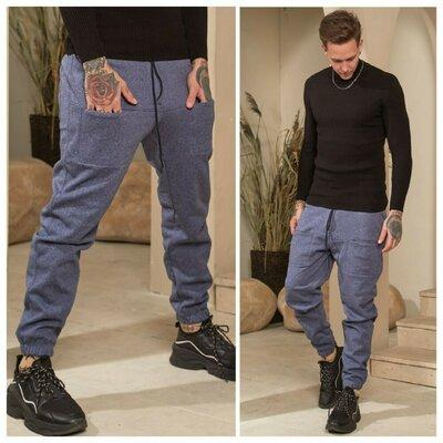 Джоггеры спортивные штаны тёплые трехнитка на флисе новинка
