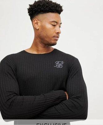 Мужская кофта лонг лонгслив удлиненный SikSilk Long Sleeve exclusive T-Shirt L M