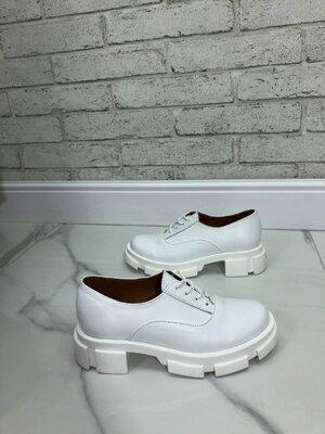 Красивые Туфельки на шнуровке, натуральная кожа и замш, чёрные, мокко, беж, красные, белые, серые, 3