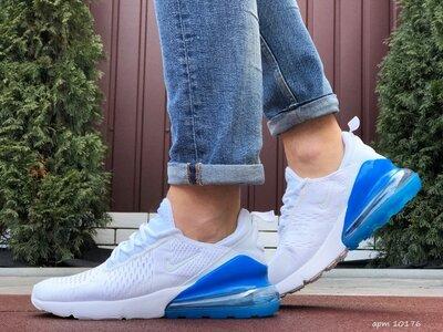 Nike Air Max 270 кроссовки мужские демисезонные белые с синим 10176