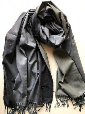 Двусторонний кашемировый шарф Cashmere / градиент / серый