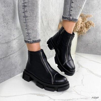 Кожаные демисезонные ботинки, женские ботинки, кожаные ботинки, ботинки кожа 38,40р код 13742