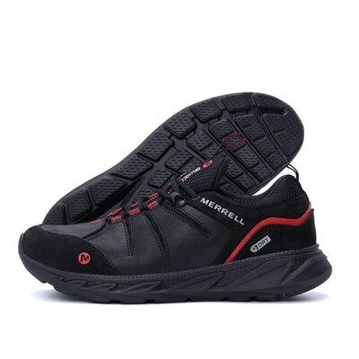 Мужские кожаные кроссовки merrell black