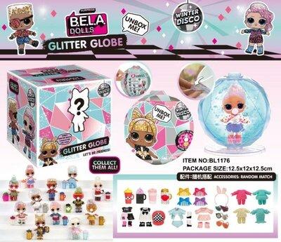 Кукла с глиттерными волосами Лол аналог LOL Surprise , кукла лол блестящие волосы в шаре