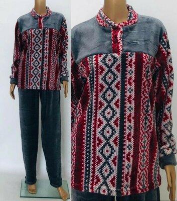 Пижама махровая теплая мужская Махра велсофт 48-50-52-54-56-58