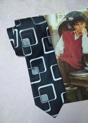 Оригинальный шелковый галстук next италия 100% шелк
