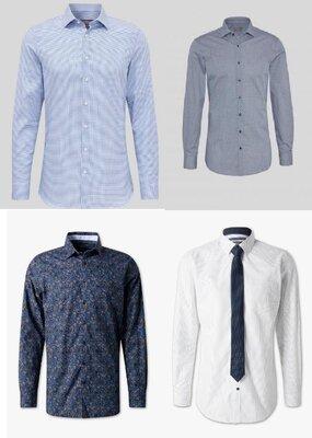 Однотонные классические и приталенные немецкие рубашки с C&A, суперкачество