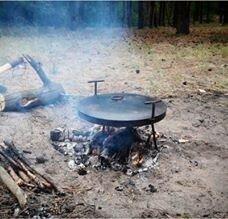 Сковорода из диска бороны крышка чехол 40 см