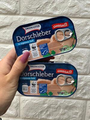 Печень трески Dorschleber Dreimaster, 121 грам, Германия