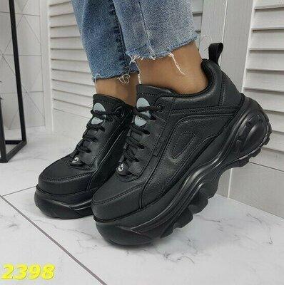 Черные женские кроссовки в стиле Buffalo,черные кроссовки,черные кросовки кросівки 36,37,39 код 2398