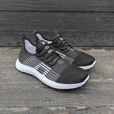 Новинка Кроссовки черные мужские высокие текстиль под Adidas Yeezy boost