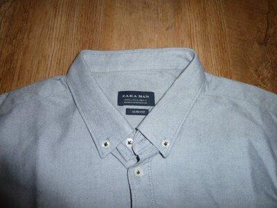 Zara slim fit Мужская рубашка Зара , р L состояние новой