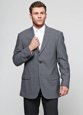 Пиджак Cobri с длинным рукавом однотонный тёмно-серый деловой