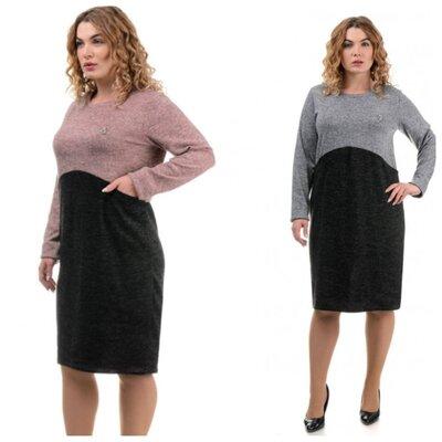 Лаконичное стильное платье 50-58 размер