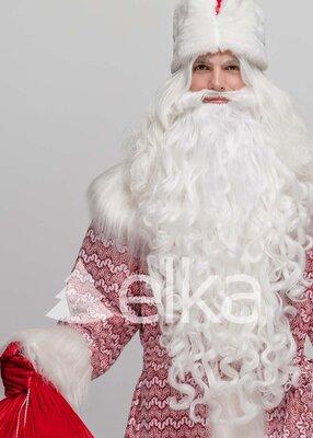 Набор борода и парик Деда Мороза, Святого Николая, Санта Клауса