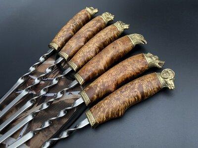 Продано: Шампуры Лесная поляна в чехле из ткани 6шт