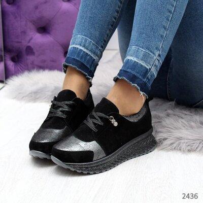 Замшевые натуральные женские кроссовки, кожаные кроссовки, шкіряні кросівки 38р-24,5 см код 2436