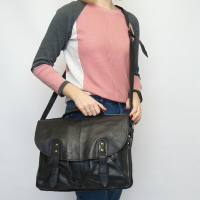 Продано: Мужская кожаная сумка, портфель, Hidesign. Натуральная кожа.