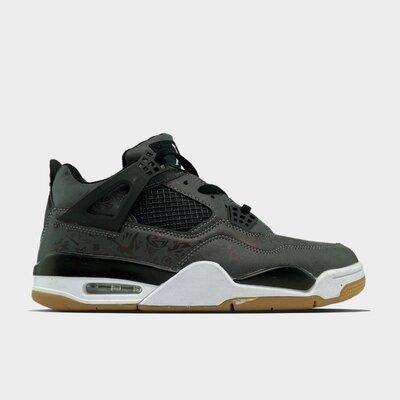 мужские кроссовки Nike Air Jordan 4 retro laser black gum.