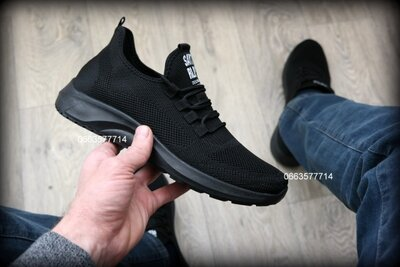 Мужские кроссовки летние чоловічі кросівки літні черные чорні серые