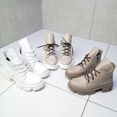 Женские ботинки Qween. Натуральная кожа и замша.