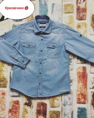 Джинсова рубашка для хлопців підлітків