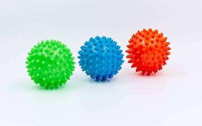 Мячик массажный с пупырышками 5653-7 диаметр 9 см Игольчатій мячик иглобол