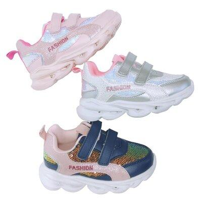 Детские кроссовки с подсветкой и пайетками для девочки от Том М/tom. M, р. 21-26