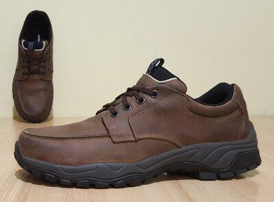 Оригинальные непромокаемые кожаные туфли Marks&Spencer 43р/28 см