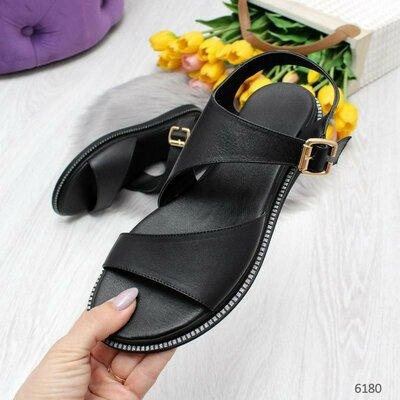 Продано: Босоножки женские натуральная кожа чёрные 400 грн.