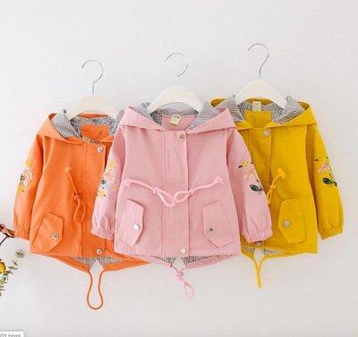 Детская котоновая ветровка на девочку детская парка летняя куртка для девочки