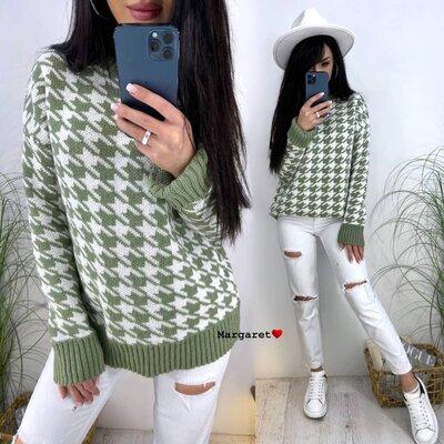 Вязаный свитер с модным узором LAPKI