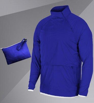 Ветровка Анорак с сумкой-чехлом в комплекте Светло-синий