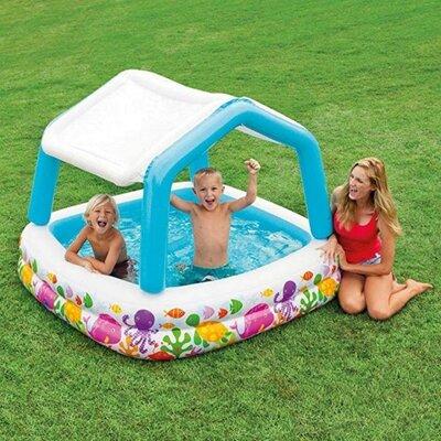 Детский надувной бассейн Intex 57470 Аквариум со съемным навесом, 157 х 157 х 122 см