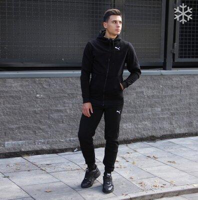 Спортивный костюм Puma утепленный черный