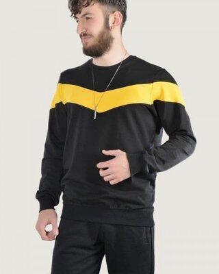 Свитшот stripe черно-желтый