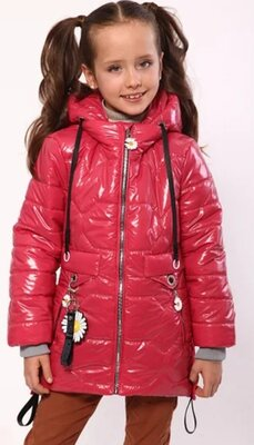 Куртка удлиненная демисезонная Монклер для девочек от 122 до 152 р,новинка весны, тренд сезона