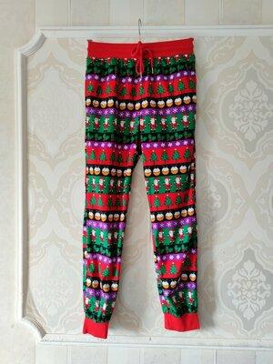 Размер S Обалденные яркие фирменные пижамные домашние штаны