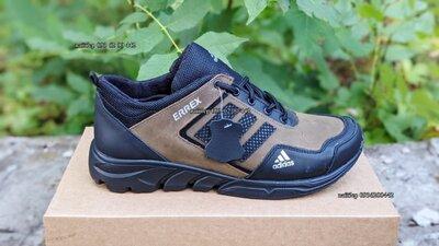 Мужские кроссовки из натуральной кожи Adidas Адидас