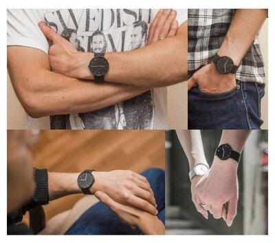 Часы Xiaomi Youpin кварцевые минимализм - Steel black